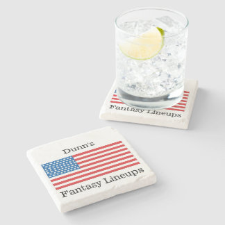 Porta copos de mármore patriótica porta-copos de pedra