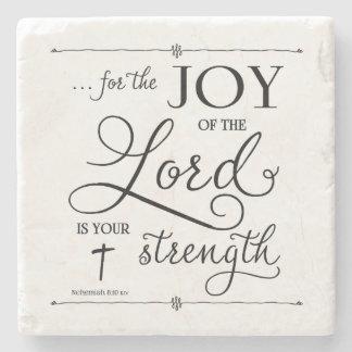 Porta Copos De Pedra Alegria do senhor - 8:10 de Nehemiah