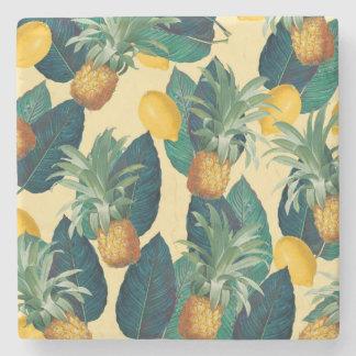 Porta Copos De Pedra amarelo dos limões dos abacaxis