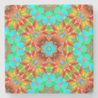 Porta Copos De Pedra Arte floral G410 do Fractal da porta copos de