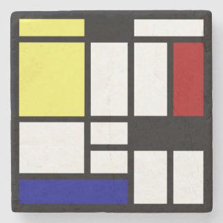 Porta Copos De Pedra Arte quadrada moderna