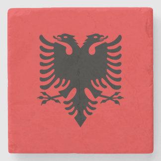 Porta Copos De Pedra Bandeira albanesa patriótica