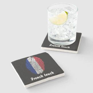 Porta Copos De Pedra Bandeira da impressão digital do toque do francês