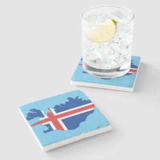 Porta Copos De Pedra Bandeira de país de Islândia