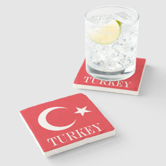 Porta Copos De Pedra Bandeira de Turquia