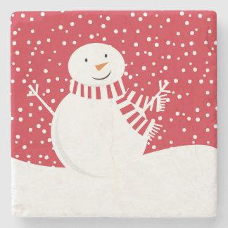 Porta Copos De Pedra boneco de neve contemporâneo moderno do inverno