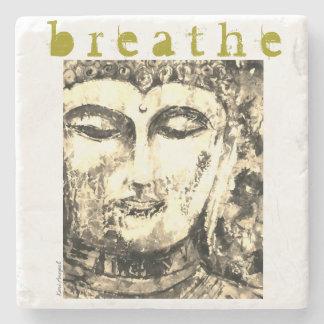 Porta Copos De Pedra Buddha respira a porta copos da pedra da arte da