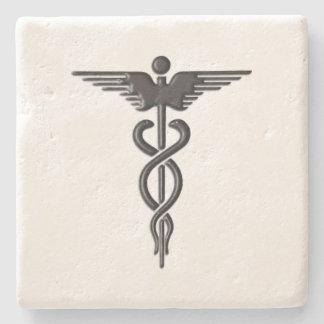 Porta Copos De Pedra Caduceus médico cor-de-rosa