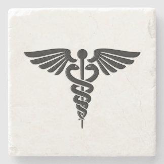 Porta Copos De Pedra Caduceus médico de prata