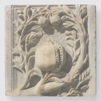 Porta Copos De Pedra Coater de mármore cinzelado pedra de Granada da