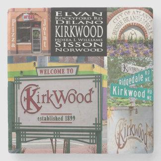 Porta Copos De Pedra Colagem de Kirkwood, Coaster. de pedra de mármore