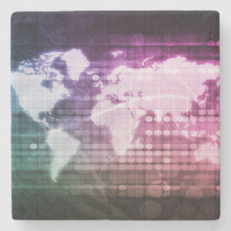 Porta Copos De Pedra Conexão de rede global e sistema integrado