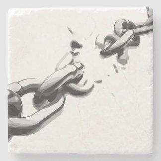 Porta Copos De Pedra Corrente da liberdade quebrada