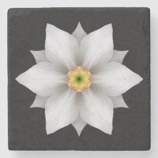 Porta copos de pedra da flor