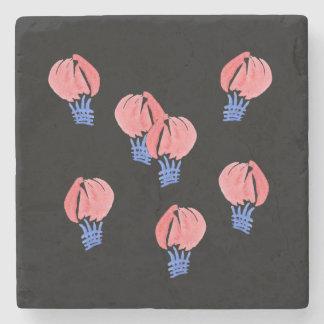 Porta copos de pedra de mármore dos balões de ar