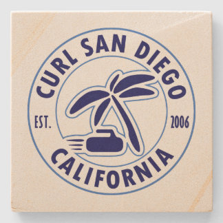 Porta copos de pedra de San Diego da onda
