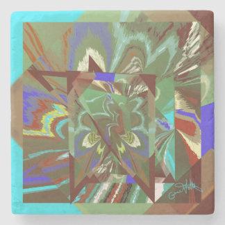 Porta Copos De Pedra Design emocionante abstrato da folha de prova