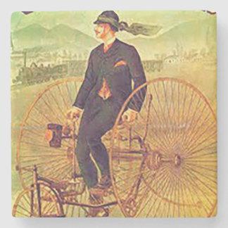Porta copos de pedra do vintage - bicicletas