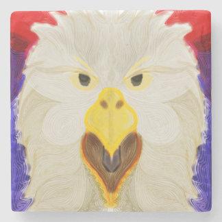 Porta Copos De Pedra Eagle patriótico