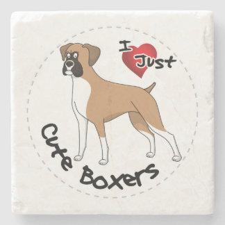 Porta Copos De Pedra Eu amo meu cão engraçado & bonito adorável feliz