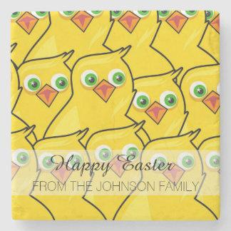 Porta Copos De Pedra Galinhas amarelas brilhantes bonitas da páscoa
