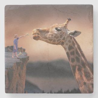 Porta Copos De Pedra Girafa