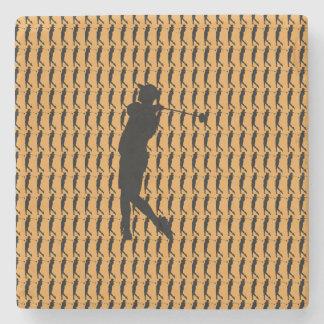 Porta Copos De Pedra Jogador de golfe