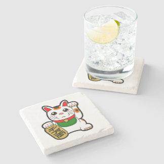 Porta Copos De Pedra Maneki Neko: Gato afortunado japonês