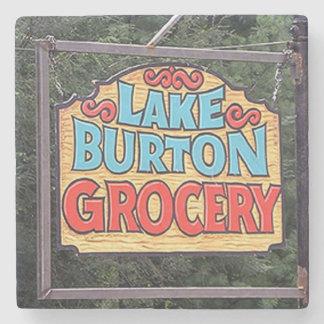 Porta Copos De Pedra Mantimento de Burton do lago, Coaster. de pedra de