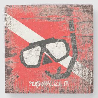 Porta Copos De Pedra Máscara do mergulho com bandeira