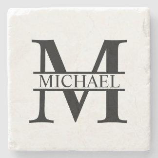 Porta Copos De Pedra Monograma e nome personalizados