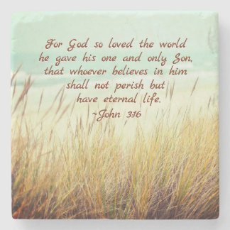 Porta Copos De Pedra O 3:16 de John para o deus amou assim o mundo,