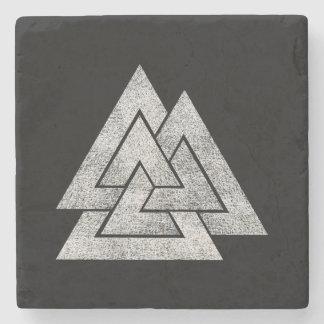 Porta Copos De Pedra O design de Viking dos noruegueses de Valknut