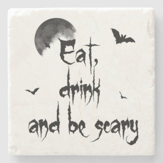 Porta Copos De Pedra O Dia das Bruxas - coma, bebida e seja assustador