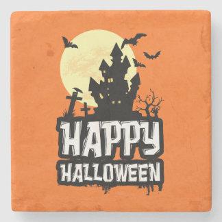 Porta Copos De Pedra O Dia das Bruxas feliz