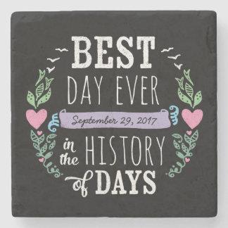 Porta Copos De Pedra O melhor dia nunca na história, data do casamento