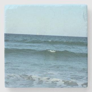 Porta Copos De Pedra Ondas de oceano do rolamento