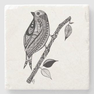 Porta Copos De Pedra Pássaro na porta copos da pedra do ramo