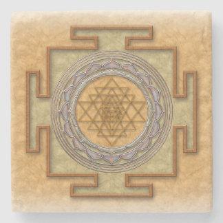 Porta Copos De Pedra Porta copos da pedra do yantra de Shri