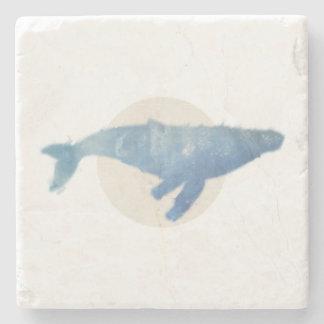 Porta Copos De Pedra Porta copos mínima da baleia de Humpback