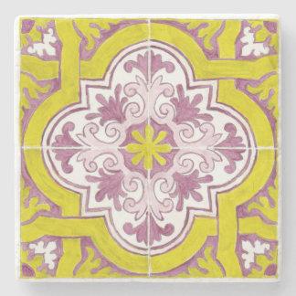 Porta Copos De Pedra Porta copos pintada bonita do mármore do azulejo