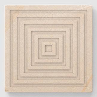 Porta Copos De Pedra Quadrado branco geométrico