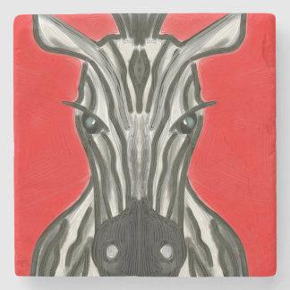 Porta Copos De Pedra Retrato da zebra