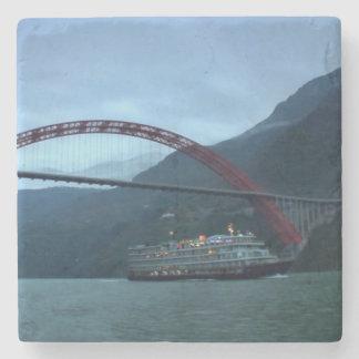 Porta Copos De Pedra Rio do chinês de China da ponte de barco
