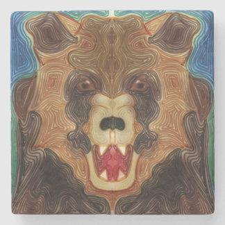 Porta Copos De Pedra Rosnado do urso