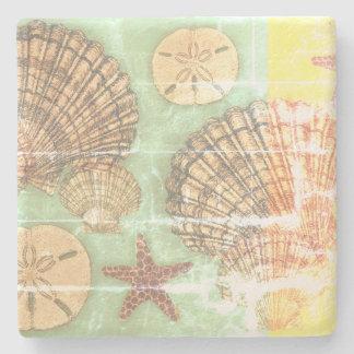 Porta Copos De Pedra Seashells de Vendredi