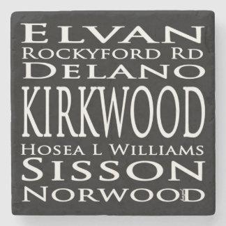 Porta Copos De Pedra Sinal do metro de Kirkwood, Coaster. de mármore de
