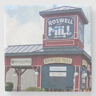 Porta Copos De Pedra Sinal do moinho de Roswell, Roswell Geórgia,
