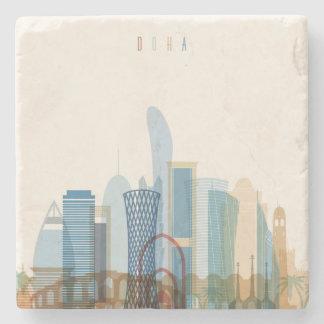Porta Copos De Pedra Skyline da cidade de Doha, Qatar  