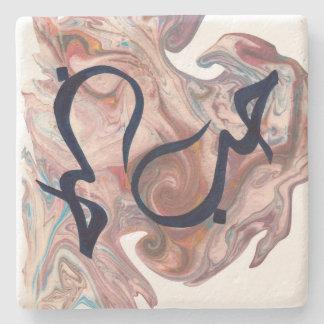 Porta Copos De Pedra Soletre a caligrafia do árabe da porta copos do